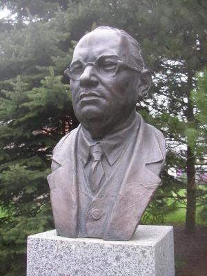 Bust of Josef Lada in Hrusice.